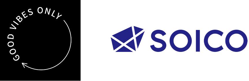 株式会社GOOD VIBES ONLY とSOICO株式会社のロゴ